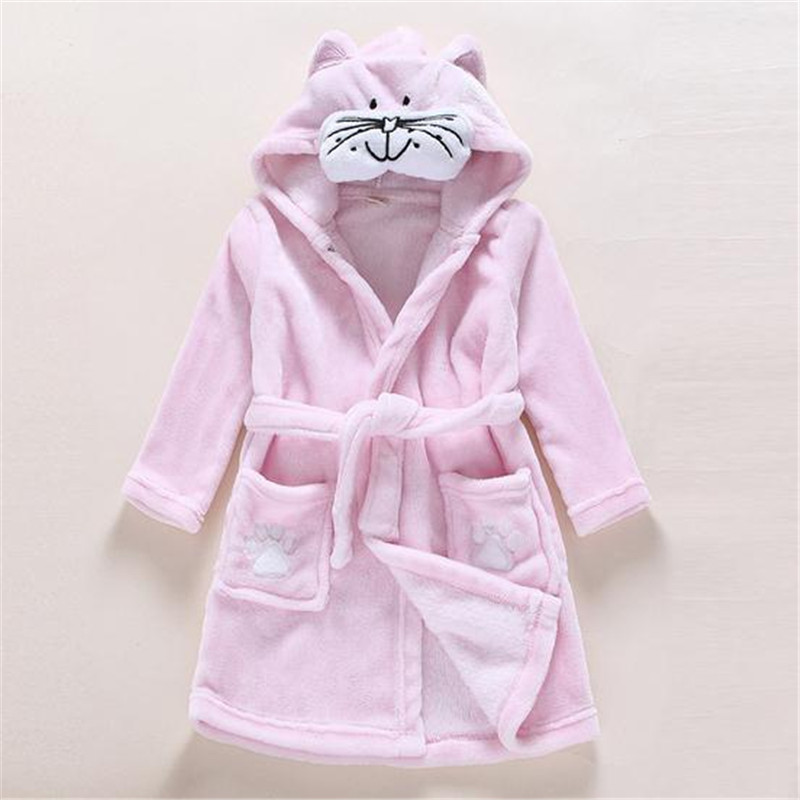 Children Boy Girl Bathrobe Childrens Cartoon Bathrobe 6 Kinds Style Goldfish Tiger Mermaid Home Robe Pajamas Kids Leisure Wear
