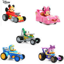 The New Cars Disney Cartoon Mickey Mouse Minnie Plastic model Sliding cars kids toys Christmas day gift