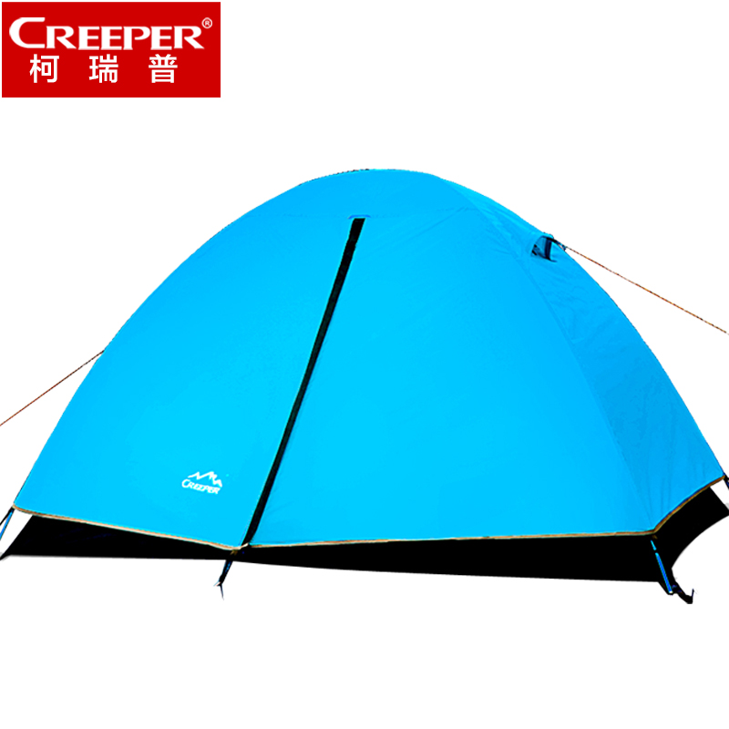 Creeper Double Layer lightweight Aluminum Pole Waterproof Camping Tent Outdoor Hiking Camping For 2 Windproof Hiking Tents outdoor camping hiking automatic camping tent 4person double layer family tent sun shelter gazebo beach tent awning tourist tent