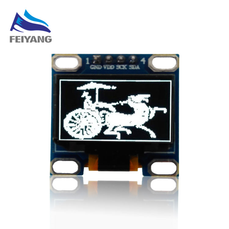 NEW 096white 096 inch 128X64 OLED Display Module 096 IIC I2C Communicate