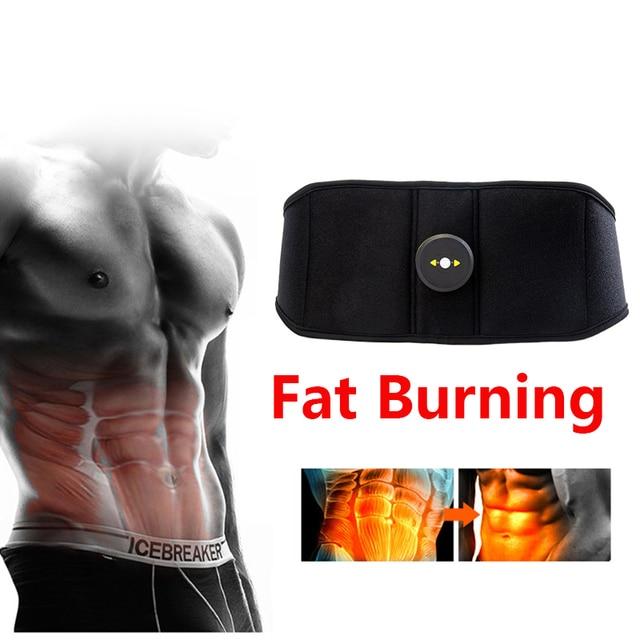 Vibration Sweat Belt Abdominal Muscle Toner EMS Electronic Stimulator Fitness Massager Waist Trimmer Support Slimming Body Home 1
