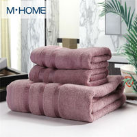 20% Cotton 80% Bamboo Fiber Towel Set Men Absorbent Beach Bath Towel For Washcloth Solid Bathroom Furniture Home Textile 3PCS