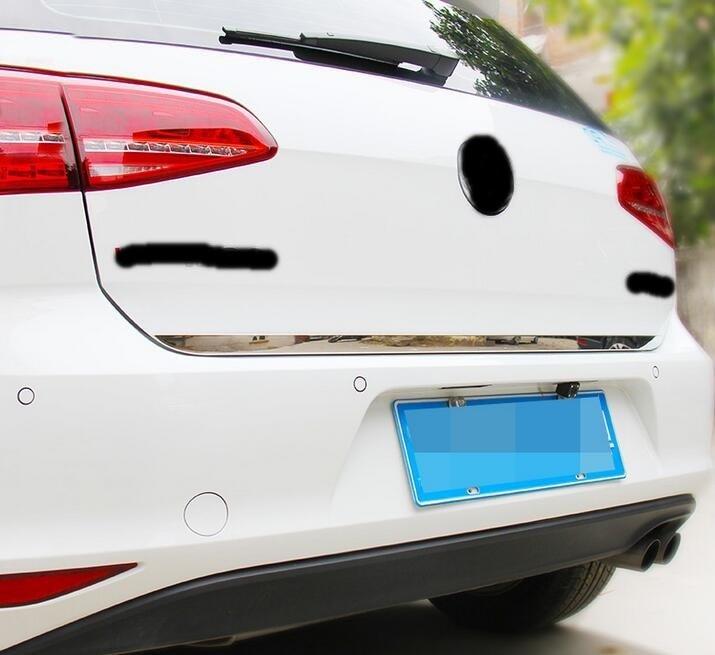 Prix pour Pour Volkswagen VW Golf 7 2014 2015 Hayon Arrière Porte Moulure En Acier Inoxydable Porte Arrière Tronc Garniture de voiture Accessoires