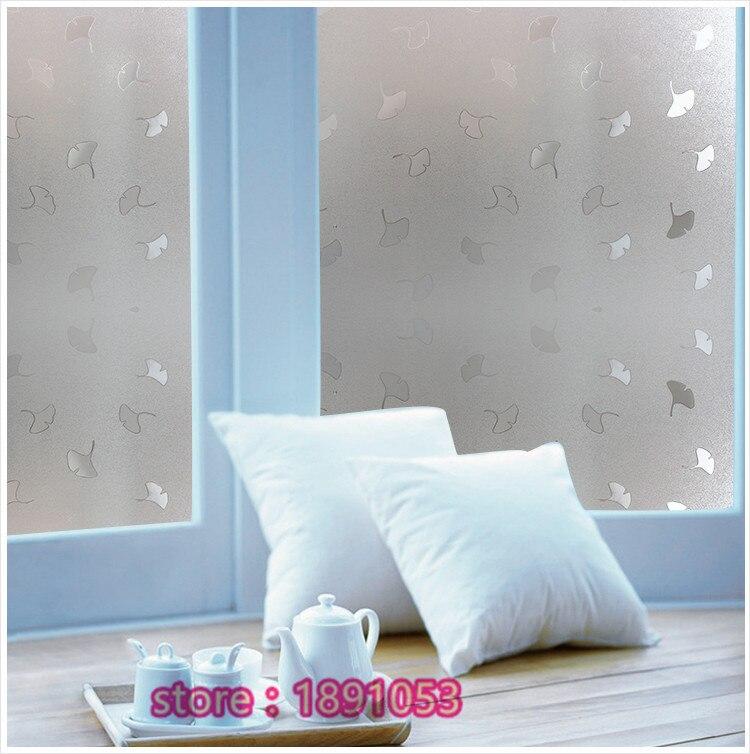 45x100cm 3d pvc antistatic film ginkgo snow pattern glass bathroom toilet kitchen opaque glass