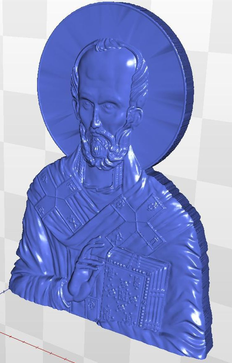 3d model Icona_Sv_Nikolay_5 relief  for cnc in STL file format model relief format 3d for cnc in stl file rosette 60 3d