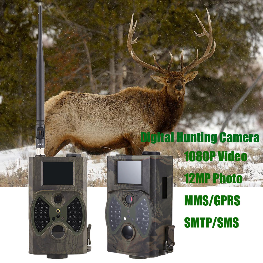 HC300M Trail Camera Hunting SMS MMS GSM Photo trap Hunter cam Outdoor Hunting Trail Camera Infrared surveillance camera hunting mms gsm gprs camera 12mp 1080p motion detector for animal trap forest outdoor hunter camera
