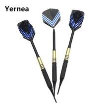 Yernea 3Pcs/set High-quality 19g soft Tip Darts Indoor Sports Dart Shooting competition Brass body Aluminum Alloy shaft