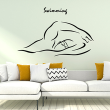 Pretty swimming Wallpaper Home Decoration Wall Sticker For Living Room Kids Waterproof Art Decal