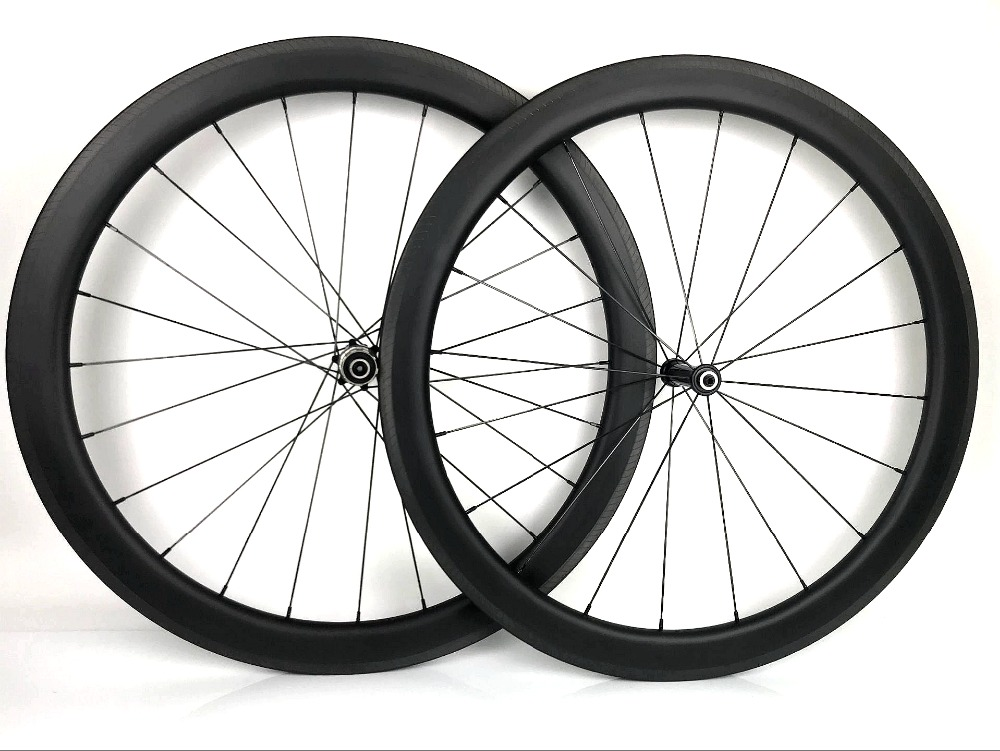 Aggressive 700c Race50 Carbon Wheels 25mm Width Bicycle Clincher/tubular Ultra Light Carbon Wheelset U-shape Rim Special Brake Surface Pleasant To The Palate