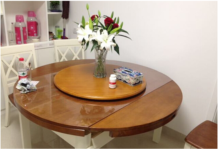 wood lazy susan dining table turntable lazy susan solid_0003
