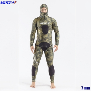 Image 1 - Men Professional 5mm 7mm for Taiwan YAMAMOTO Neoprene Spearfishing Suits Available Hooded Sealed two piece Diving Dry Wetsuits
