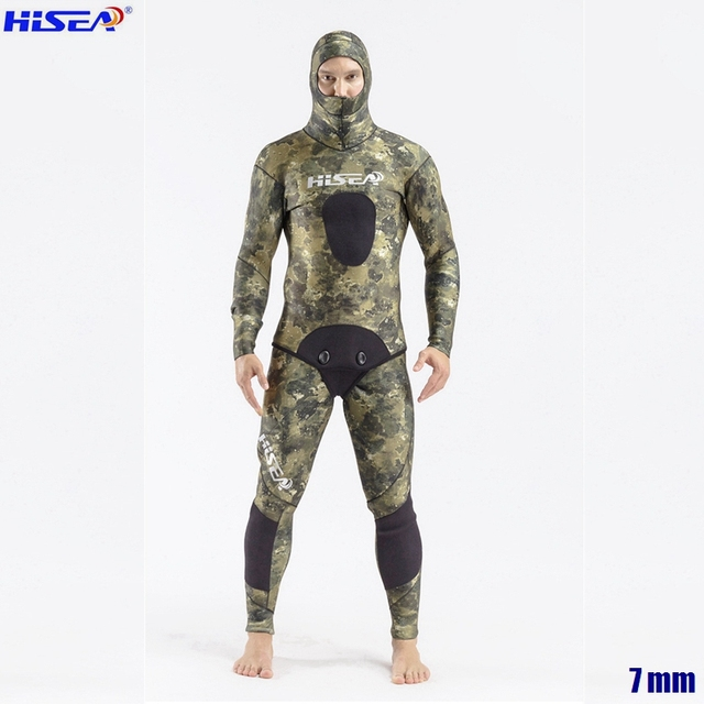 Men Professional 5mm 7mm for Taiwan YAMAMOTO Neoprene Spearfishing Suits Available Hooded Sealed two piece Diving Dry Wetsuits