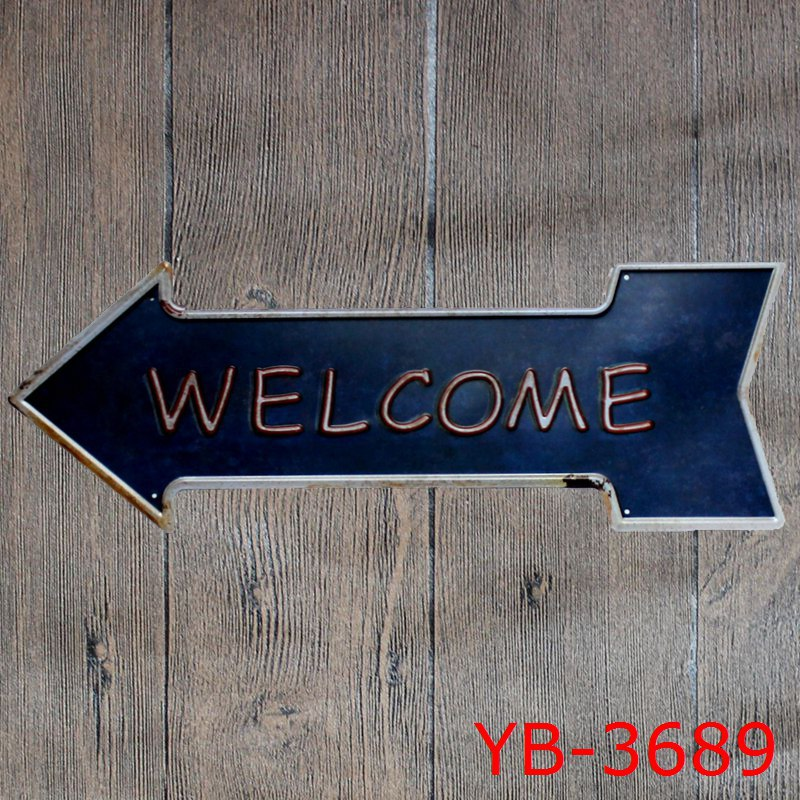 Free Shipping! New Welcome Tin Sign Metal Poster Advertising Board Offee Bar Art Decor Board Wall Metal Plate Sign