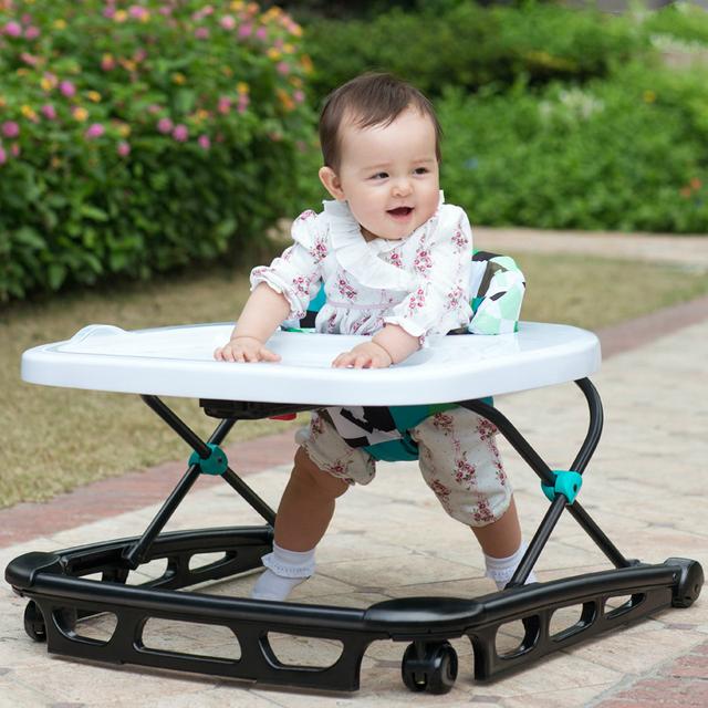 Alta Calidad Bebé Walker 7-18 Meses Bebé Scooter de Prevención Rollover Multifuncional Niños U Tipo Plegable Caminantes C01
