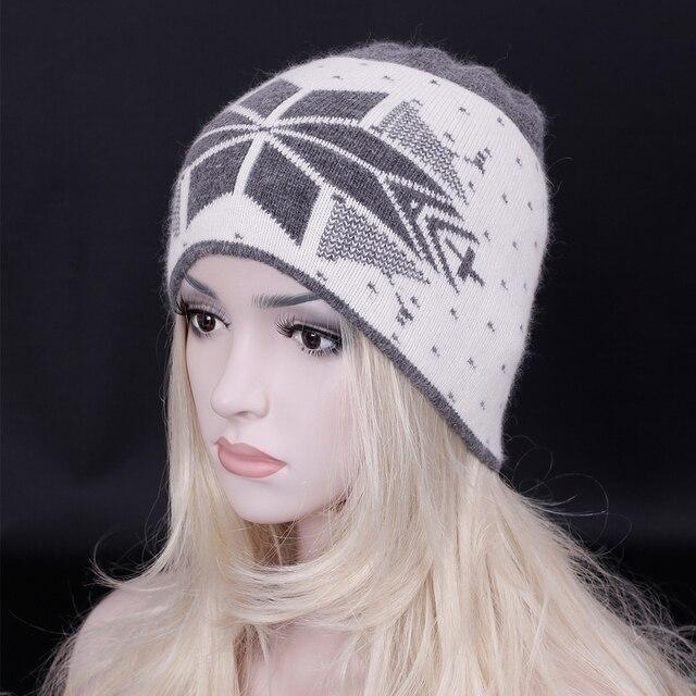 2016 Fashion Brand Unisex wool Beanie Hat Thick wool knitting casual hat Elegant women Warm Snow cap bonnet Gorros