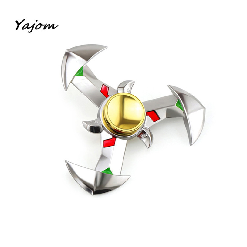 Free for shipping Hand Spinner NEW Alloy Tri Fidget Focus Toy EDC Finger Spin Gyro ADHD