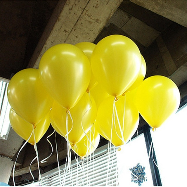 10pcs 10inch Yellow Latex Balloons Air Balls Inflatable Wedding Party Decoration Birthday Kid Party Float Balloons Classic Toys