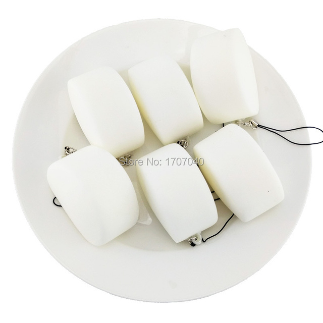 30PCS Squishy Chinese White Bread Soft Bread Scented Kid Toys Simulation Food Collectibles Wholesale