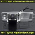 Para a Toyota Highlander 2002 2003 2004 2006 2007 2008 2009 2010 2011 2012 Kluger Carro CCD de Visão Noturna 4LED de Backup câmera de Visão Traseira câmera