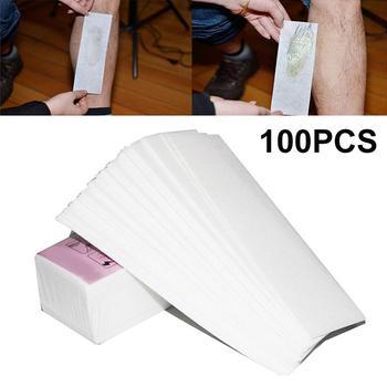 100Pcs Disposable Non-woven Wax Depilatory Paper Leg Hair Removal Accessories  Makeup