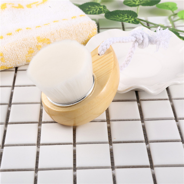 Top Quality Fiber Soft Brush Deep Cleaning Blackhead Nose Washing Brush Pore Clean Brush Wooden Handle Brush Cleanser Small Tool 5