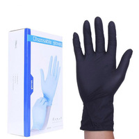 100 Pcs Box Black Disposable Latex Gloves Garden Gloves For Home Cleaning Rubber Or Cleaning Gloves