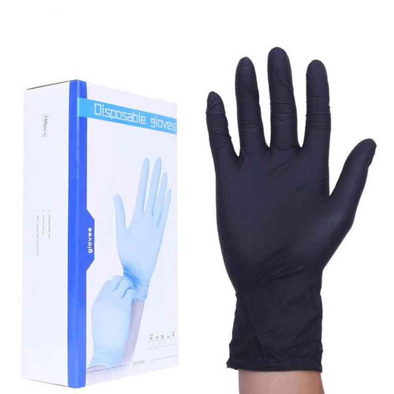 Black Color Disposable Latex Gloves Garden Gloves For Home Cleaning Rubber Or Cleaning Gloves Universal Food Gloves