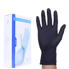 Set Black Color Disposable Latex Gloves