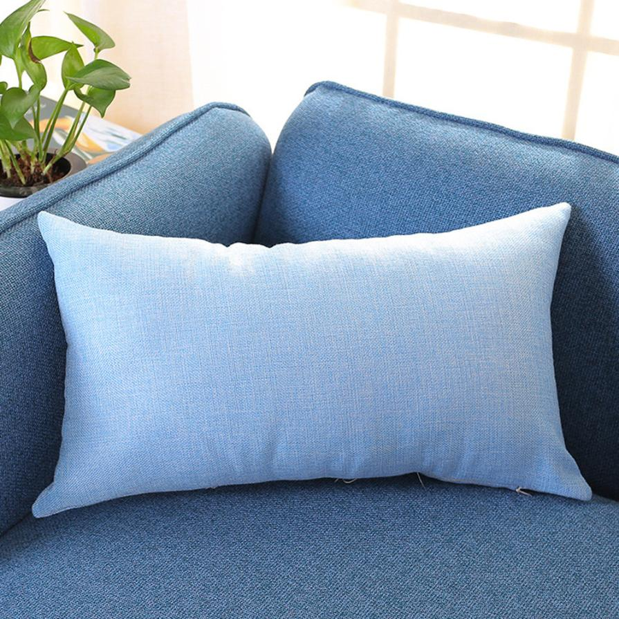 Sofa Pillows Contemporary: Contemporary Solid Rectangle Pillow Case Linen Pillowcase