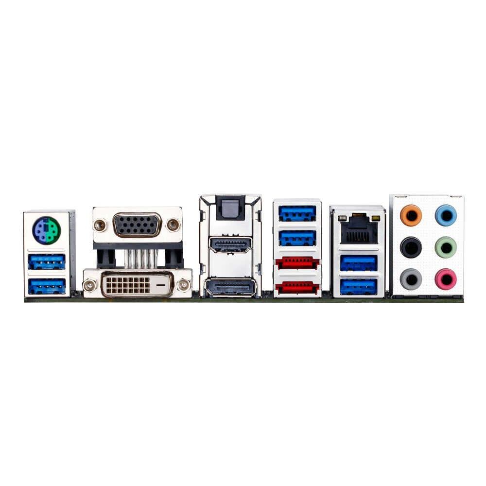 الأصلي المستخدمة سطح المكتب اللوحة جيجابايت GA-Z87X-UD3H Z87 LGA 1150 كور i7 i5 i3 DDR3 32 جرام SATA3 USB3.0 VGA DVI DP E-Sata ATX