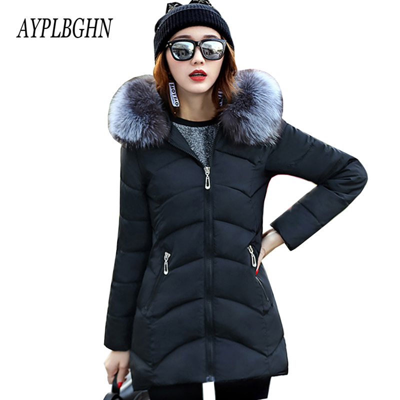 Winter Slim Jacket Women's 2017 New Fashion Brand Warm Thick Outwear Coat Women Jackets Parka Female Cotton Coats Plus size 5L56 2017 new fashion winter jacket men long thick warm cotton padded jackets coat parka overcoat casual outwear jacket plus size 6xl