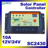 Universal solar charge and discharge controller SC2430 12V / 24V 10A solar controller 133*70*35mm pwm for solar power system