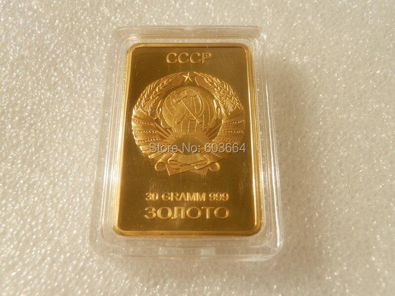 Souvenirs High Quality Cccp Emblem Russian Replica Gold Clad Bars 30noto 1pcs Lot In Non