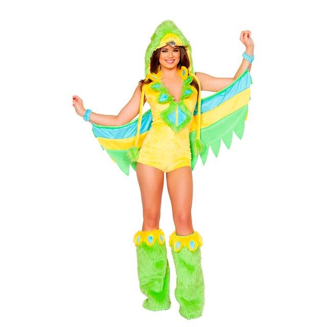 Ideal Vente Adulte Femmes Sexy Furry Animal Oiseau Perruche Halloween  PI77