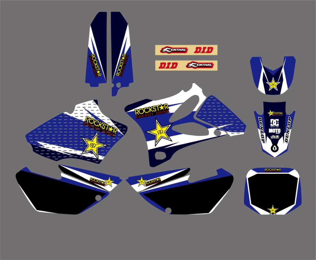 Motorcycle New Style Team Graphics Background Decal And Sticker Kit For Yamaha YZ85 YZ 85 2002 2003 2004 2005 2006 2007-2014