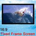 Luxury Top Rank Home Theater Matte White PVC surface 100inch 100''  16:9 Wide Fixed Frame Projection Projector Screen