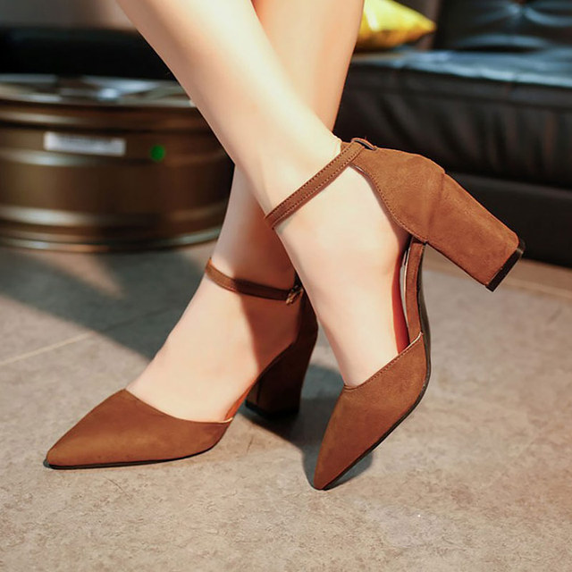 6b15b1f4e9 Summer sandals women shoes female fashion buckle heel pumps comfortable  elegant summer shoes woman high heels