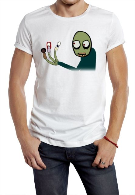 4d9a5d4e033c Salad Fingers Spoons tee t shirt NIGHTMARE HALLOWEEN rusty hubert  cumberdale W Cartoon t shirt men Unisex New Fashion tshirt