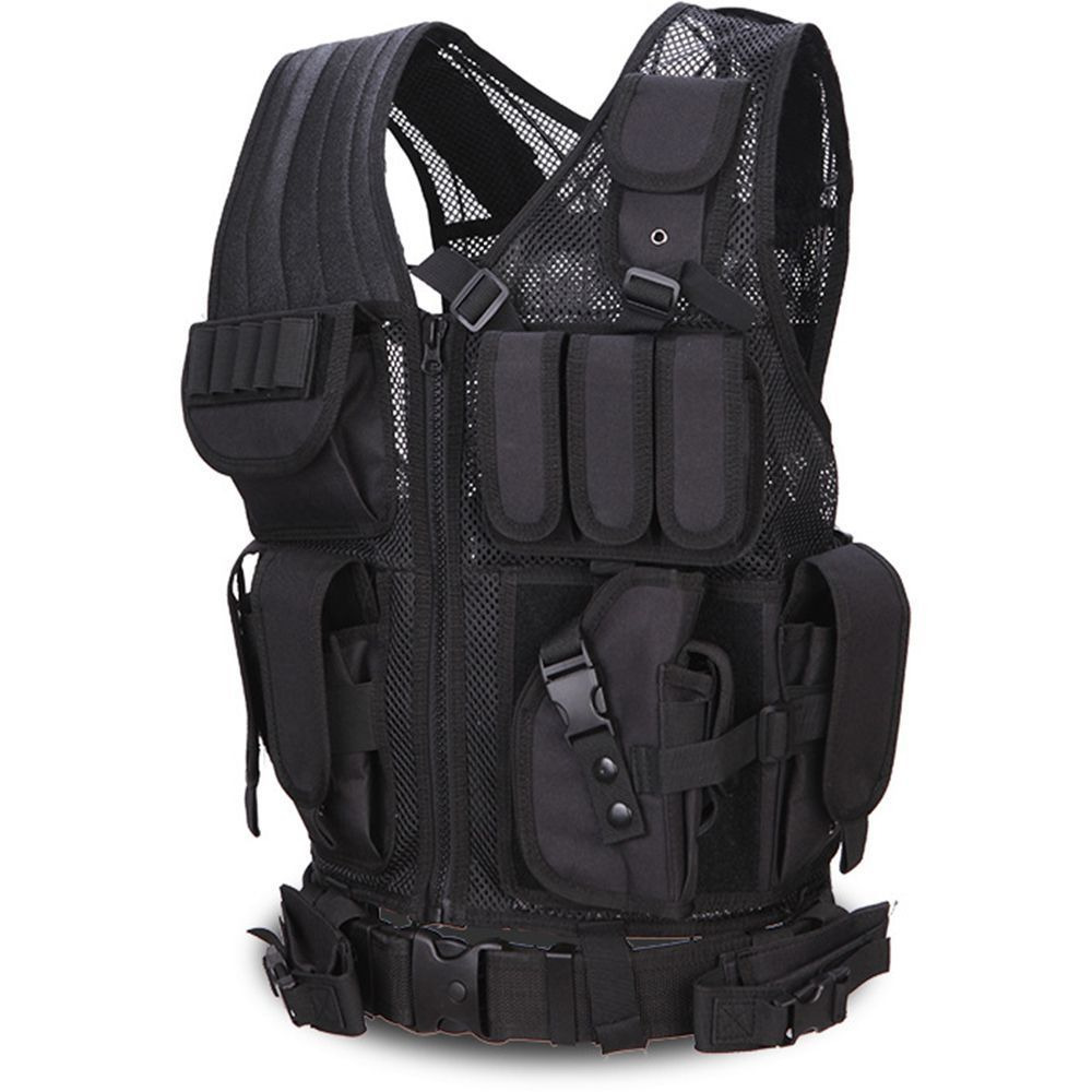 dewbest Latest Collection Of Genuine Mans Molle Black Tactical Vest Cs Swat Protective Equipment Vests
