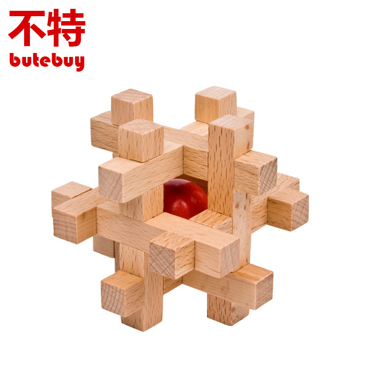 Take beads Unlocking ring Wooden Puzzle IQ Mind Brain Teaser Puzzles Game for Adults Children Kids Gift board games toy metal puzzle iq mind brain game teaser square educational toy gift for children adult kid game toy
