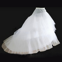2016 SoDigne 2 Crinoline 3 Layer Yarn White Petticoat For Long Tail Wedding Dress Vestido De