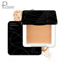 Pudaier-Polvo de maquillaje Natural para cara, polvo Mineral compacto para base, polvo translúcido prensado con hojaldre