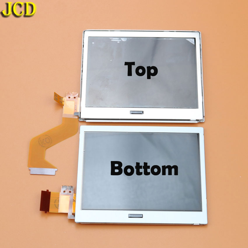 JCD 1pcs Top Bottom Upper Lower LCD Screen for NDSL Game Accessories Display Screen for Nintend DSLite DS Lite-in Replacement Parts & Accessories from Consumer Electronics