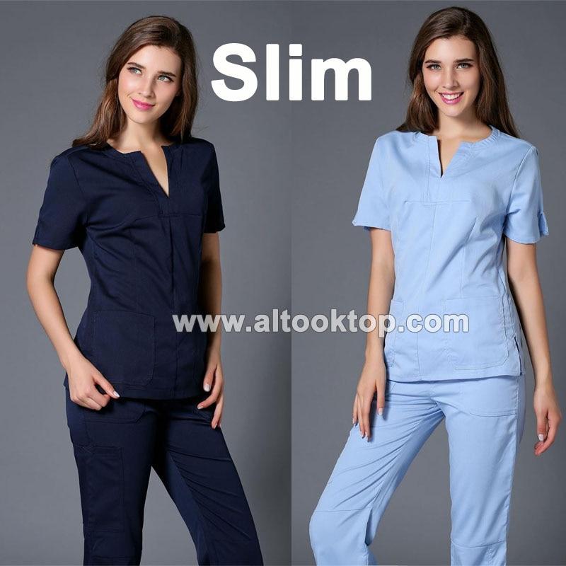 Medico uniformes hospital women medical robe scrubs for Spa uniform policy