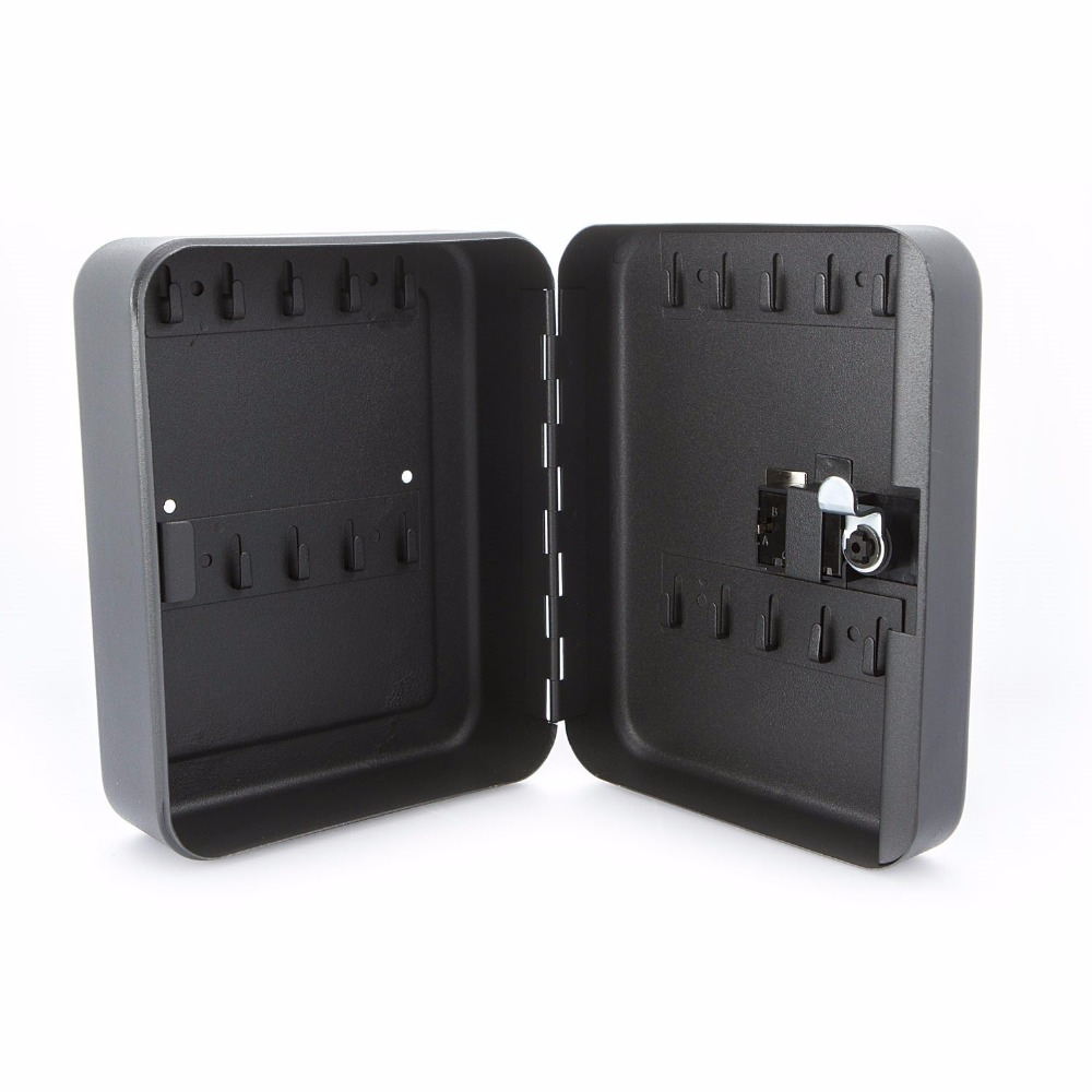 New Cost-effective Best Price Lockable Security Metal Key Cabinet Safe Storage Box with 36 Tags Fobs Wall Mounted practical key safe box lockable security metal key cabinet storage box safe 20 tags fobs wall mounted key security box wholesale