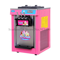 Countertop Soft Serve Ice Cream Machine Frozen Yogurt Ice Cream Machine Colorful 220V Three Heads