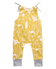 High Quality Infant Kids Baby Girl Cotton Clothes Yellow Flower Sleeveless Romper Jumpsuit Floral Outfits Clothes