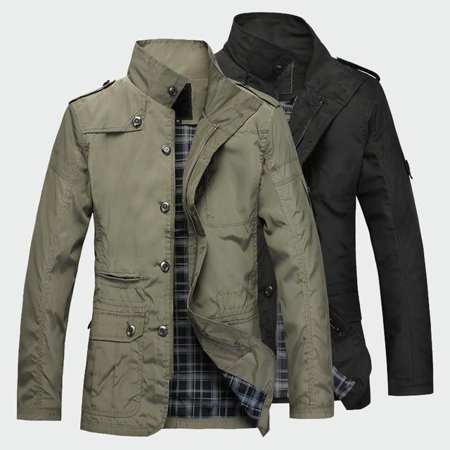 Fashion Thin Men's Jackets Hot Sell Casual Wear Korean Comfort Windbreaker Autumn Overcoat Necessary Spring Men Coat M-5XL ML091 2