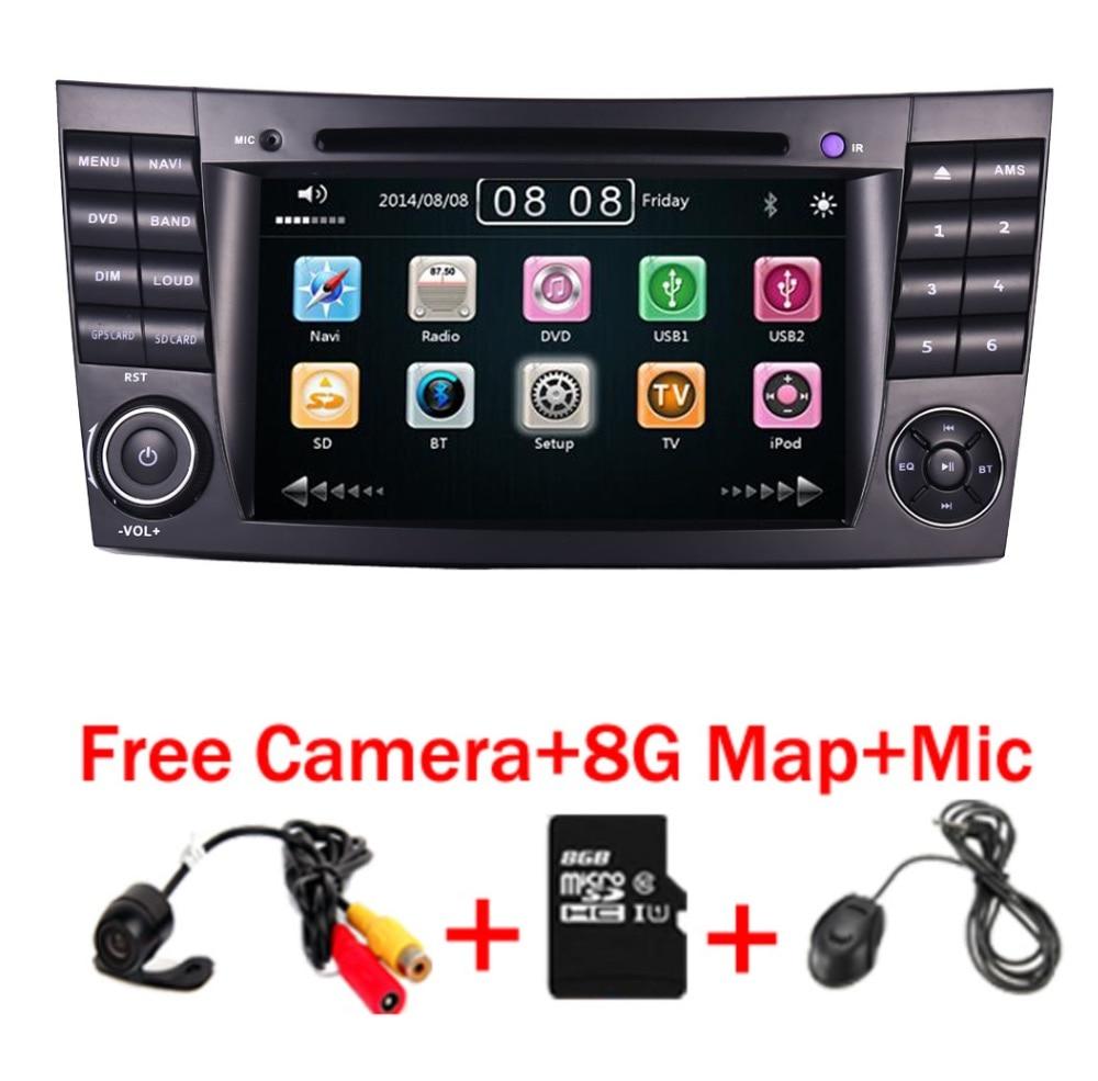 2018 Novo Carro DVD Player Para Mercedes-Benz Classe E W211 W209 W219 Estéreo Rádio GPS Sistema de Navegação Livre camera + Mapa