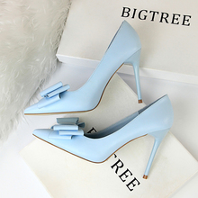 Sweet Butterfly-knot Shallow High Heels Shoes New Arrival Po